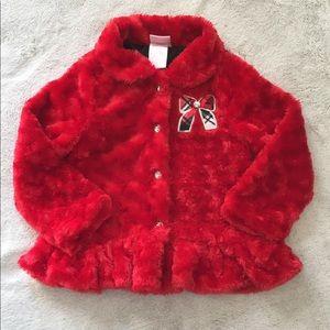 Nanette Fuzzy Toddler Girl Coat